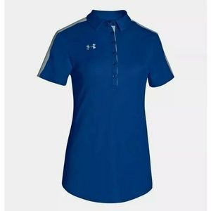 Under Armour Team Colorblock Polo Womens Size L